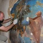 Loreta Rumburk_obnova nástěnné malby v kapli sv Josefa_31 7 2014_foto Klára Mágrová