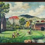 Iluzivní podoba zámku ve Varnsdorfu  v roce 1797 podle Wenzela Salomona. Nedatováno. Sbírky Muzea Varnsdorf