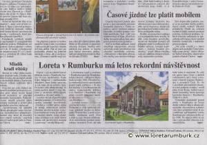 Právo_Rekordní návštěvnost v Loretě Rumburk_2 10 2014_s 12