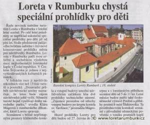 Právo, Loreta v Rumburku chystá speciální prohlídky pro děti, 2 5 2015, s 12