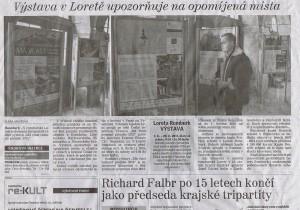 Děčínský deník, Výstava v Loretě upozorňuje na opomíjená místa, 7 11 2015, s 2