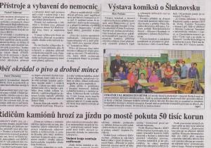 Právo, Výstava komiksů o Šluknovsku, 11 11 2015, s 10
