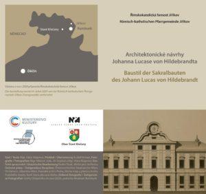 Stálá výstava Architektonické návrhy Johanna Lucase von Hildebrandta, Titulní list skládanky